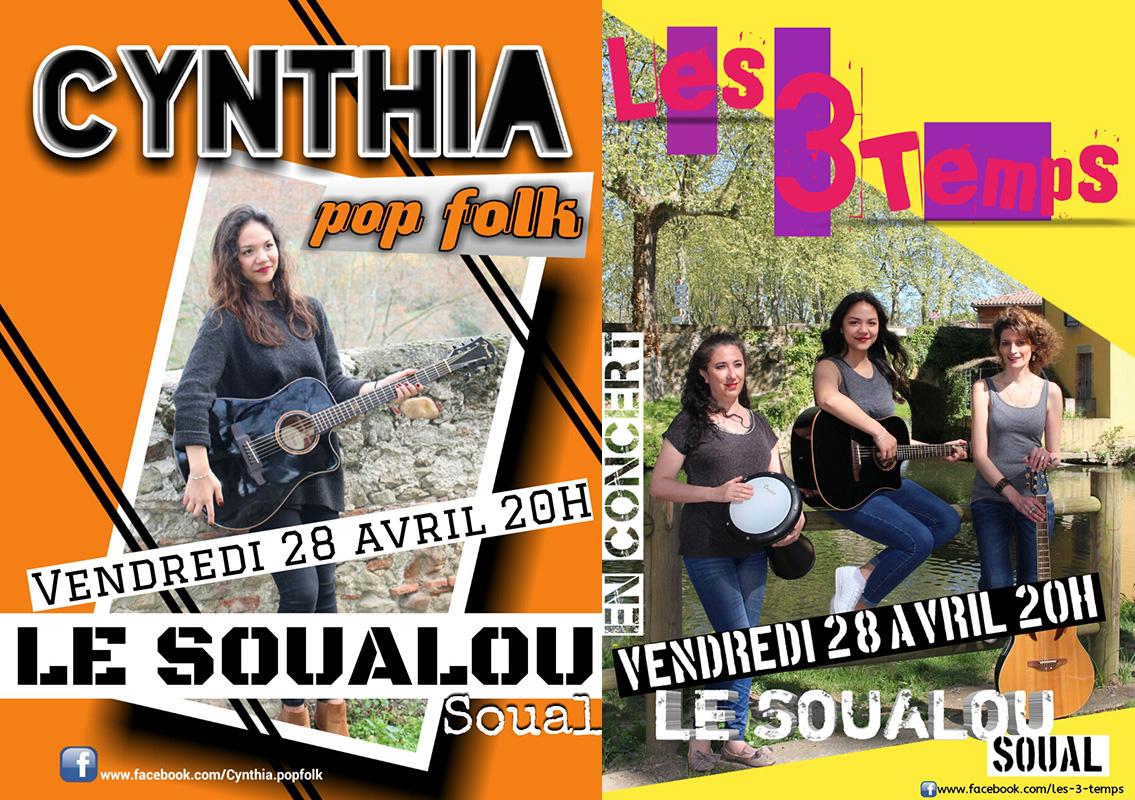 Cynthia et le groupe les trois temps