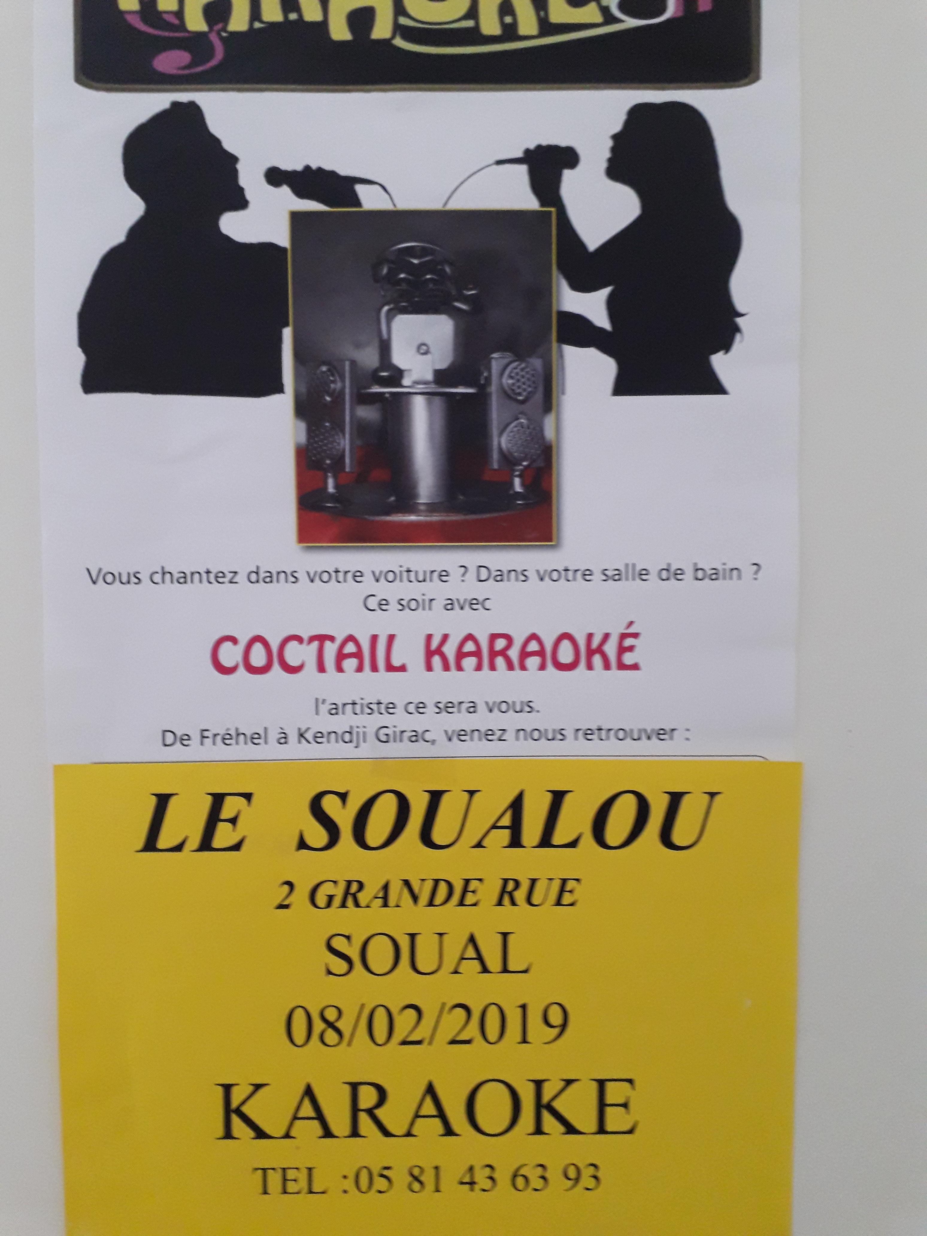 Concert au Soualou le 8 février